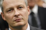 French Agriculture Minister Bruno Le Maire attends the opening of the International trade fair for livestock Space 2010 in Rennes